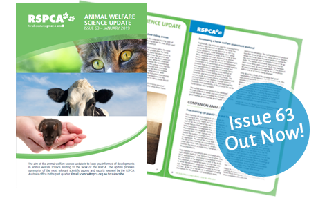 Animal Welfare Science Update 63