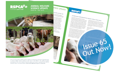 Animal Welfare Science Update 65