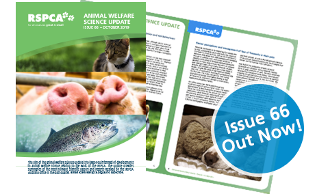 Animal Welfare Science Update 66