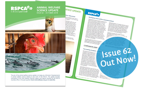Animal welfare Science Update 62