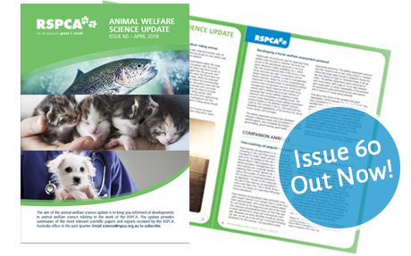 Animal welfare Science Update 60
