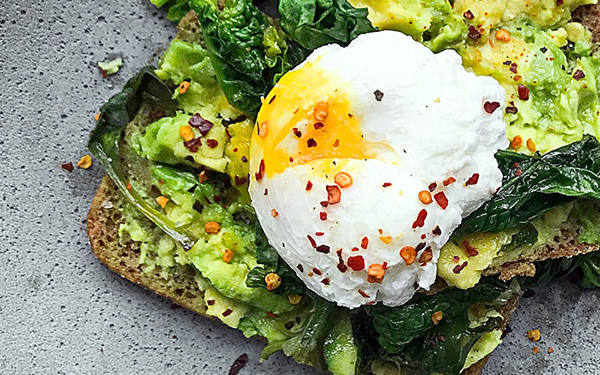 a humanely sourced egg on toast